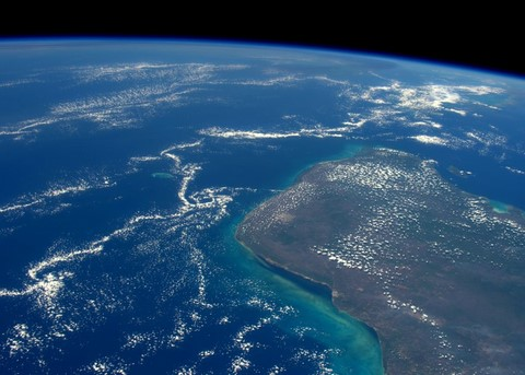 site of chicxulub impact crater off yucatan