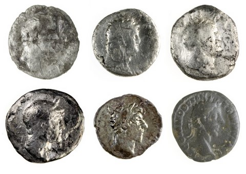 coins discovered on nordkehdingen germanic harbor site