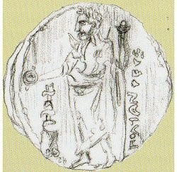cyrene stater of pytheas found 1959 dated  322-313BC